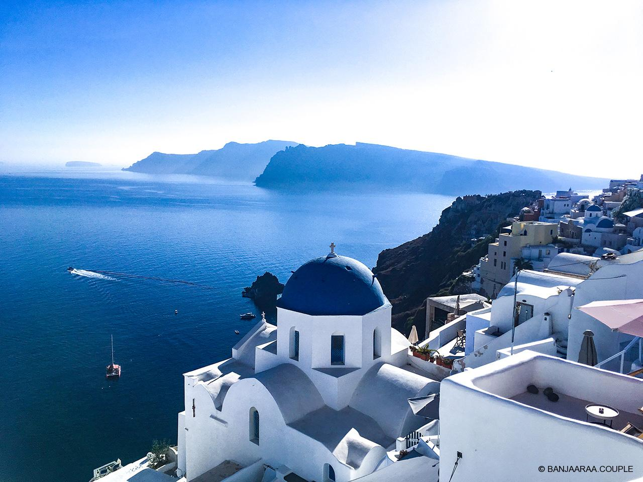 A scenic shot of Oia