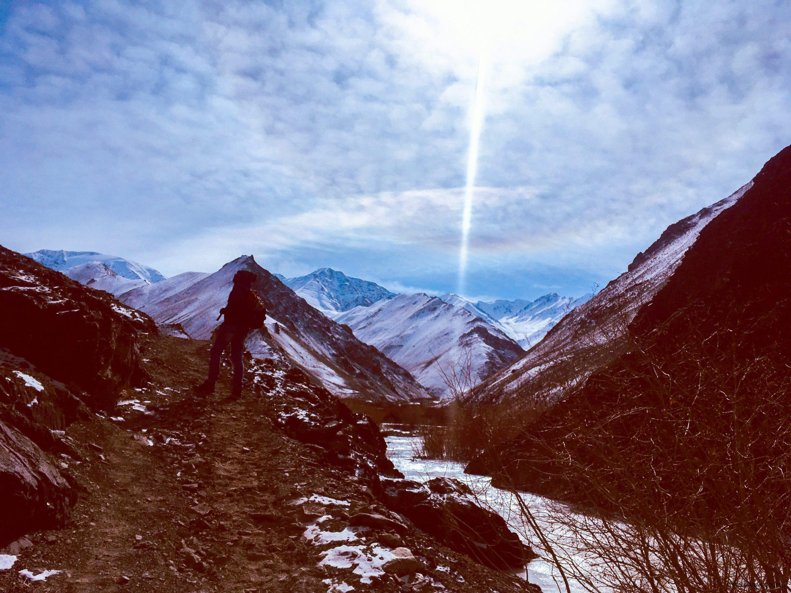 Our trail to Rumbak amidst the beautiful mountains in Hemis Park