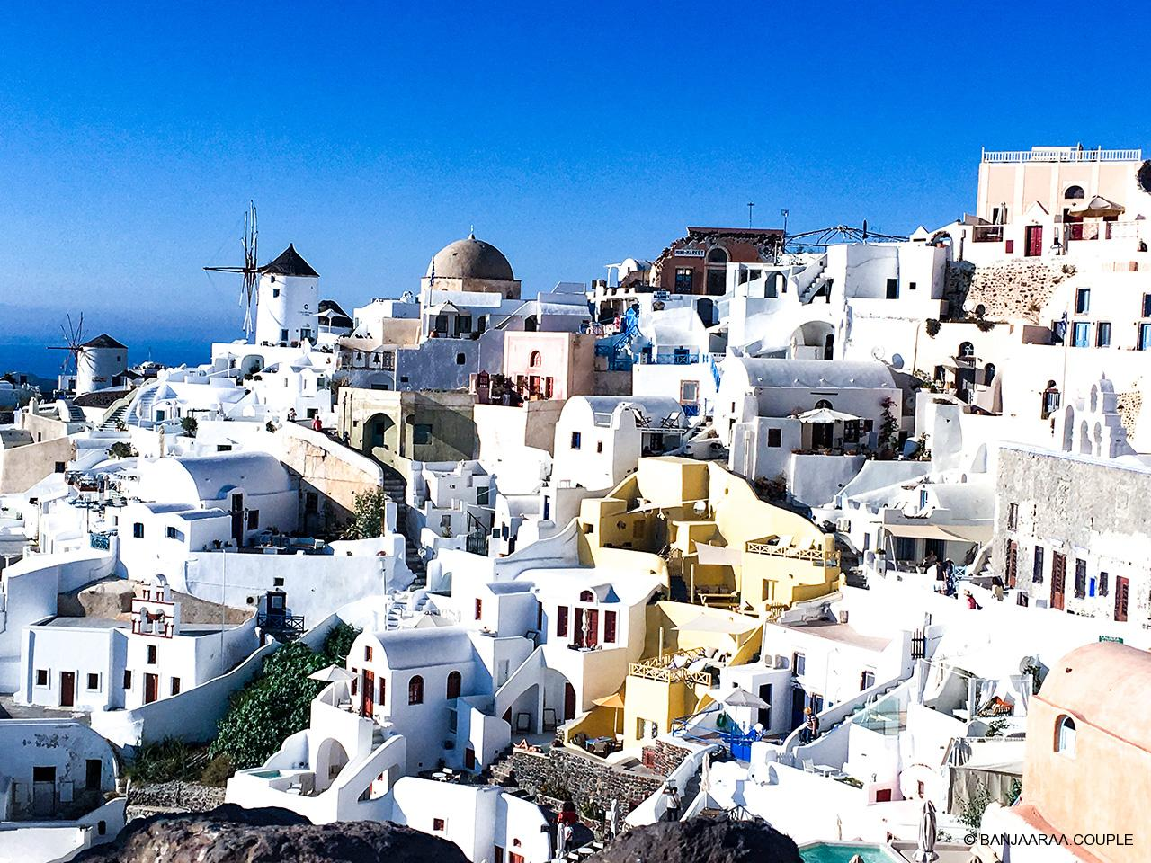 Famous cave houses of Oia and their narrow alleys
