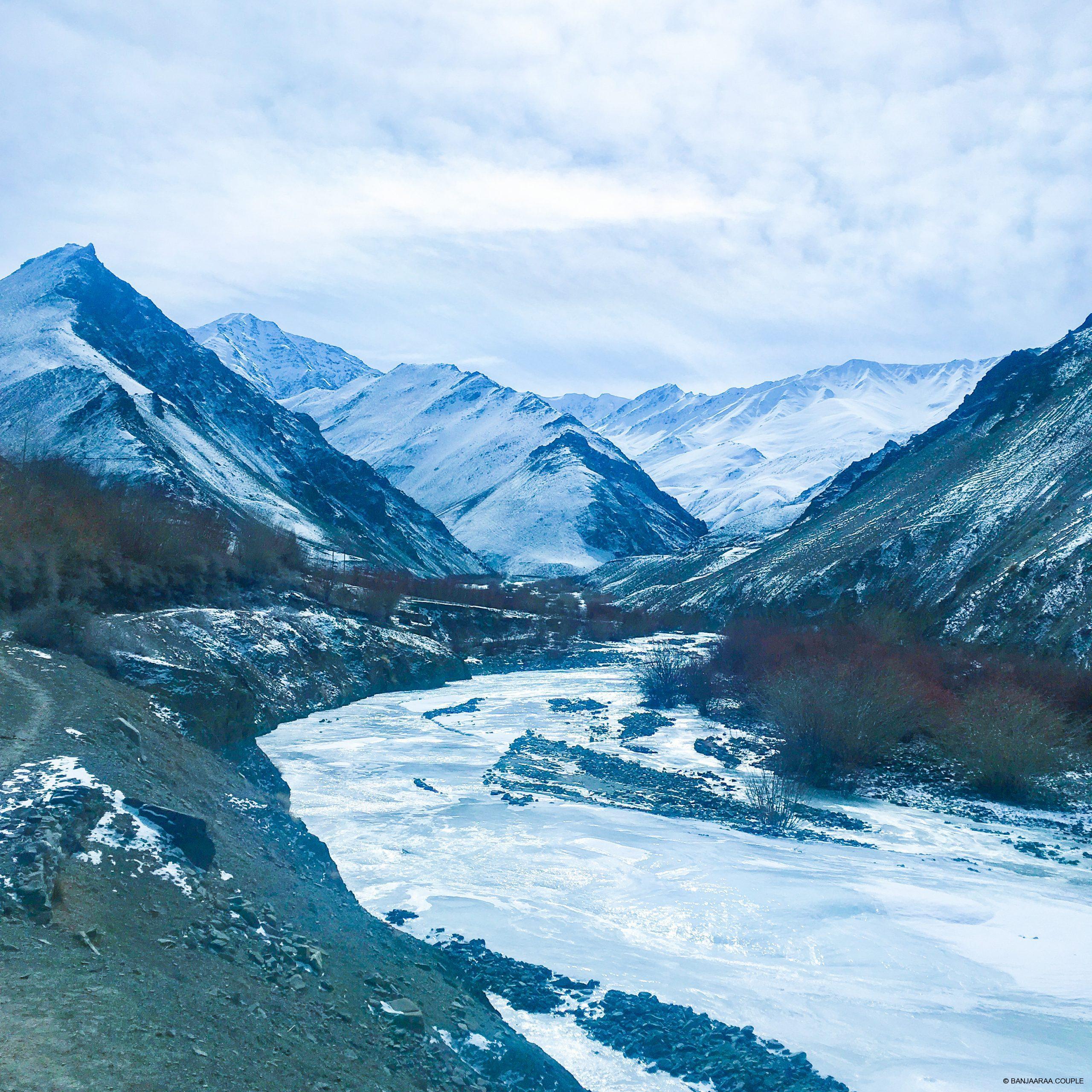 Frozen River inside the Hemis Park