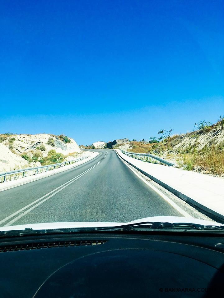 Our drive to Oia from the Port
