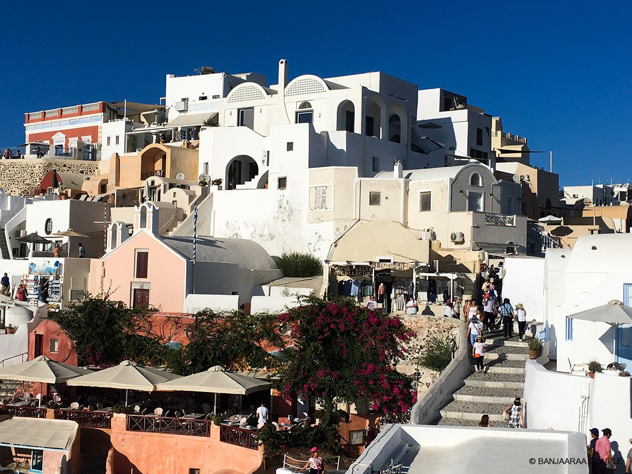 Oia bustling with activity