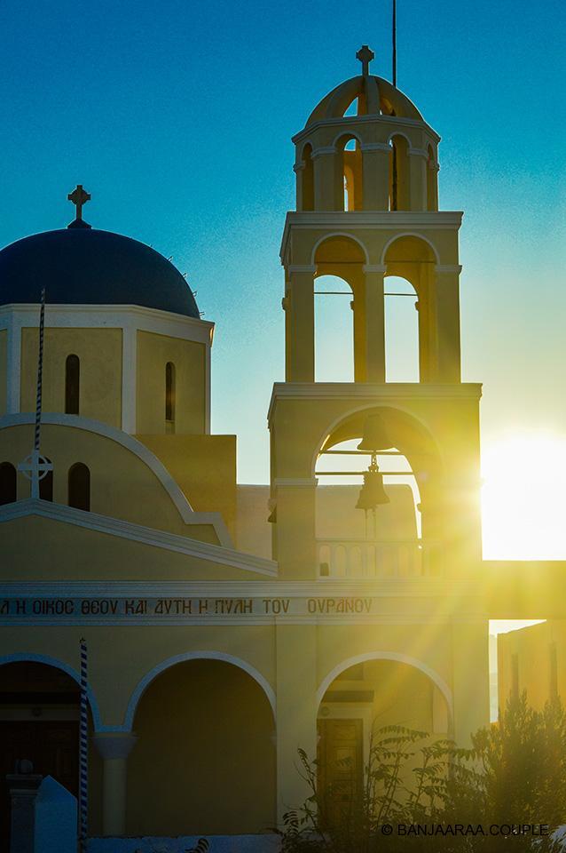 Agios Georgios Church at the start of the Oia Street