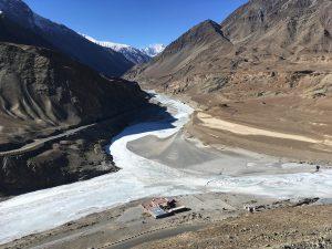 The confluence of Indus & Zanskar river