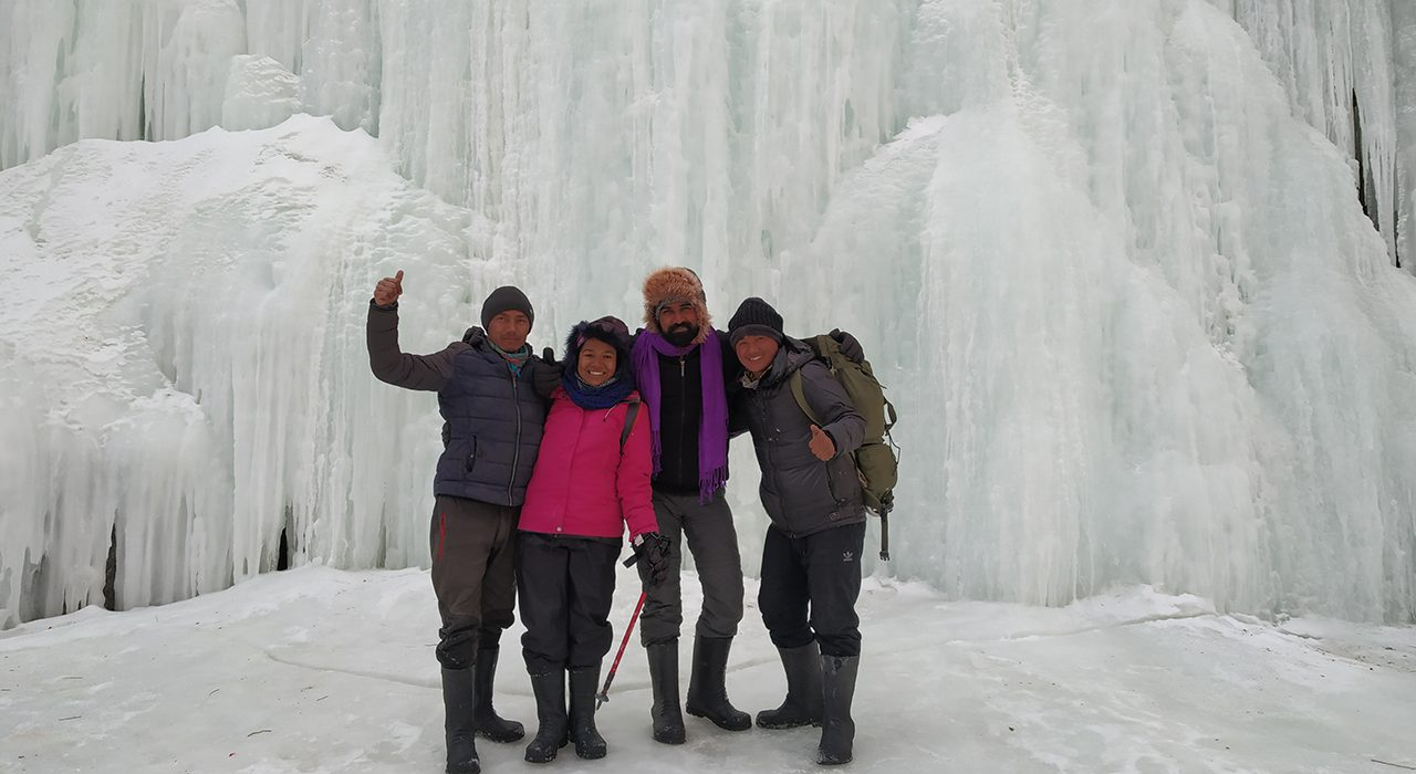 With our guides - Donchok and Rigzin