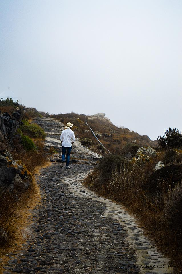 Enjoying the morning stroll on the Oia to Fira Trail
