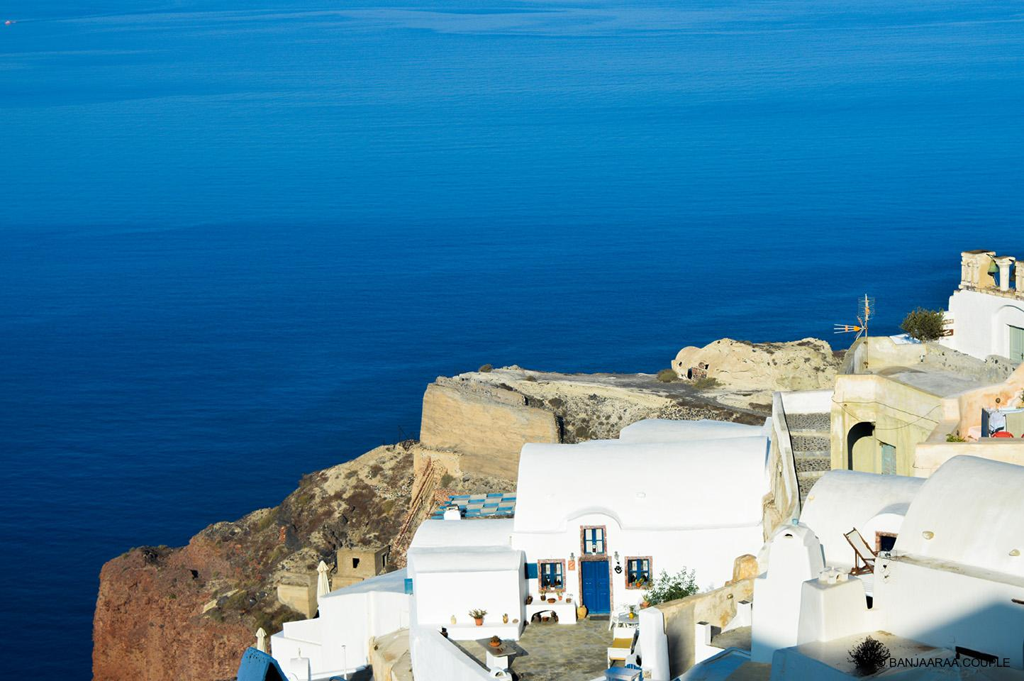 A typical cycladic cave house Architecture