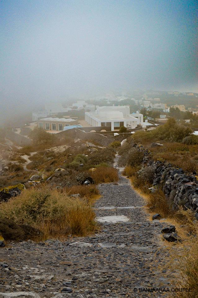 The 11 kms trail leading to Fira from Oia