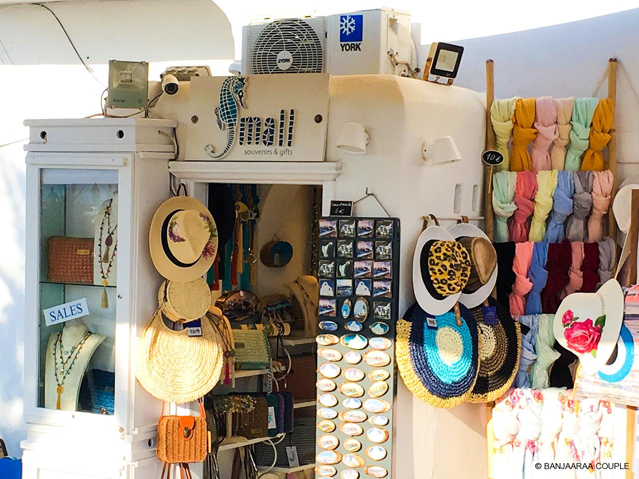 Colorful shop on the streets of Mykonos