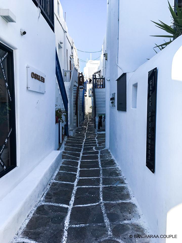 Famous alleys of Mykonos