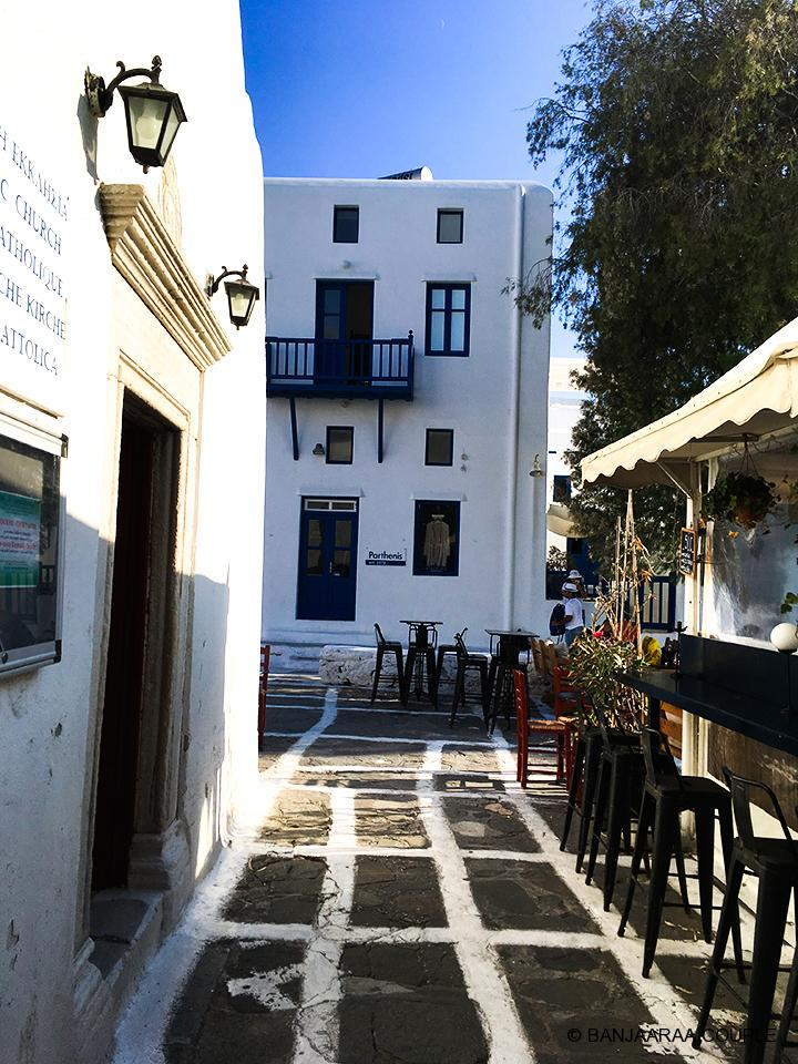 Beautiful alleys of Mykonos