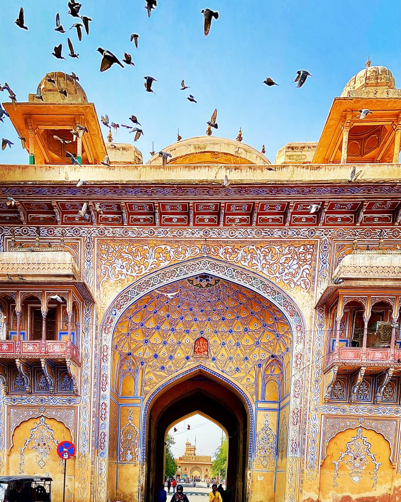 One of the entrance gates at City Palace, Jaipur