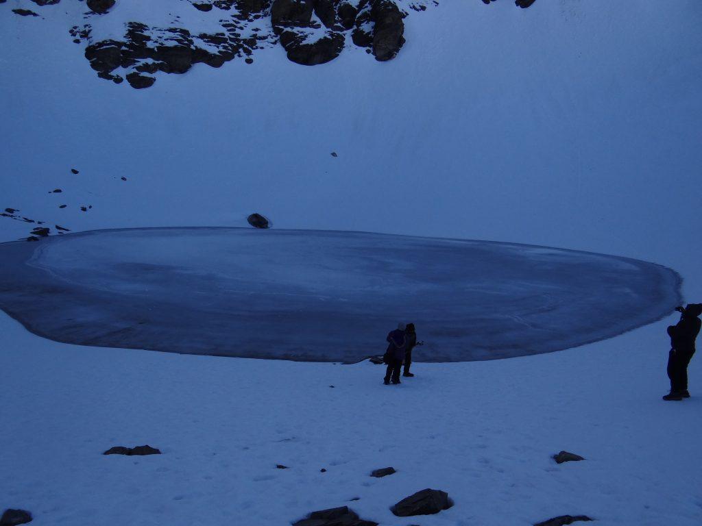 Frozen lake at Roopkund