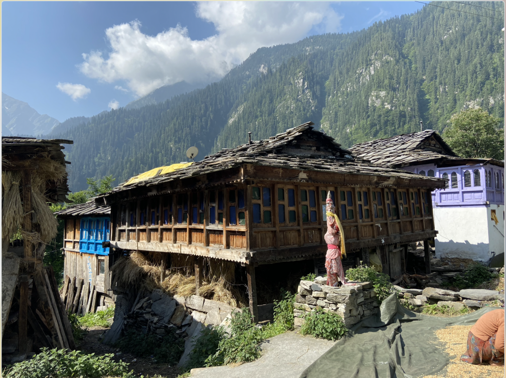 Typical Himachali houses in Grahan Village